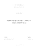 prikaz prve stranice dokumenta ŽENE U PODUZETNIŠTVU NA PODRUČJU REPUBLIKE HRVATSKE